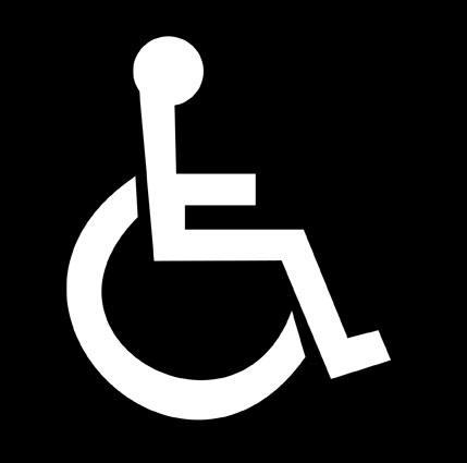 Kansainvälinen ISA-pyörätuolisymboli (International Symbol of Access).