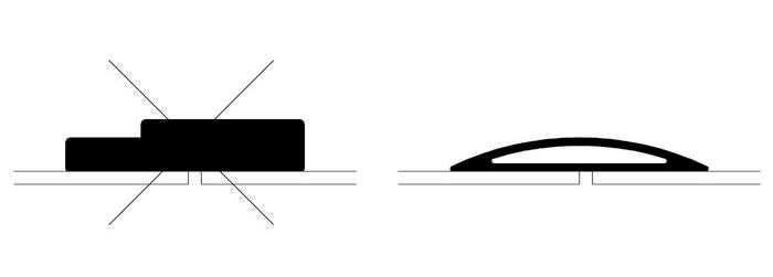 Tavallisen kynnyksen voi korvata esimerkiksi kokoon painuvalla kumikynnyksellä.