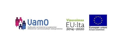 VamO-hankkeen, Vipuvoimaa EU:lta ja EU:n sosiaalirahaston logot