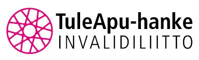 Invalidiliiton TuleApu-hankkeen logo vaaleanpunainen ratas