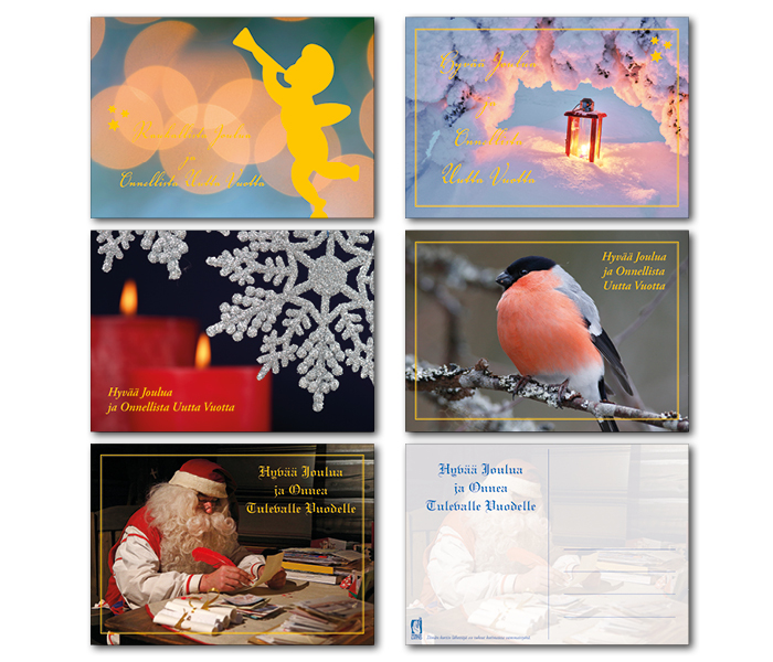Vaakamuotoiset joulukortit