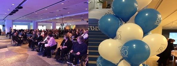 Invalidiliiton 80vjuhlaseminaarin yleisöä