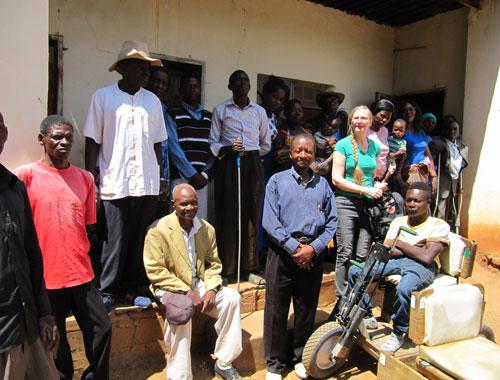 Invalidiliiton kansainvälisten asioiden koordinaattori Laura Poussan Sambian matkan kuvia