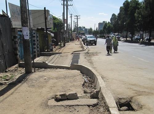 Katunäkymä Etiopian Addis Abebasta