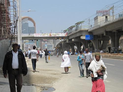 Addis Abeban kaupunkinäkymä