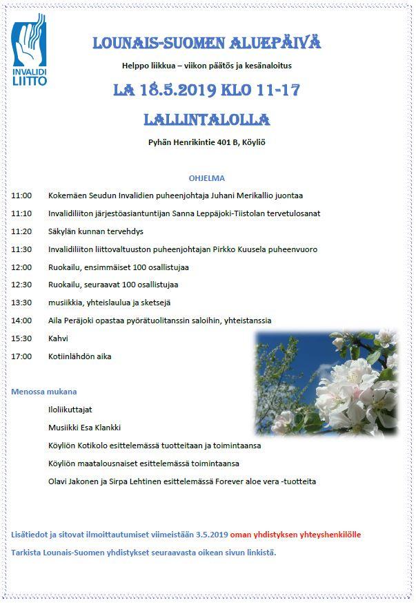Lounais-Suomen aluepäivän ohjelma