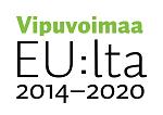 Limenvihreällä teksti Vipuvoimaa ja mustalla EU:lta 2014-2020
