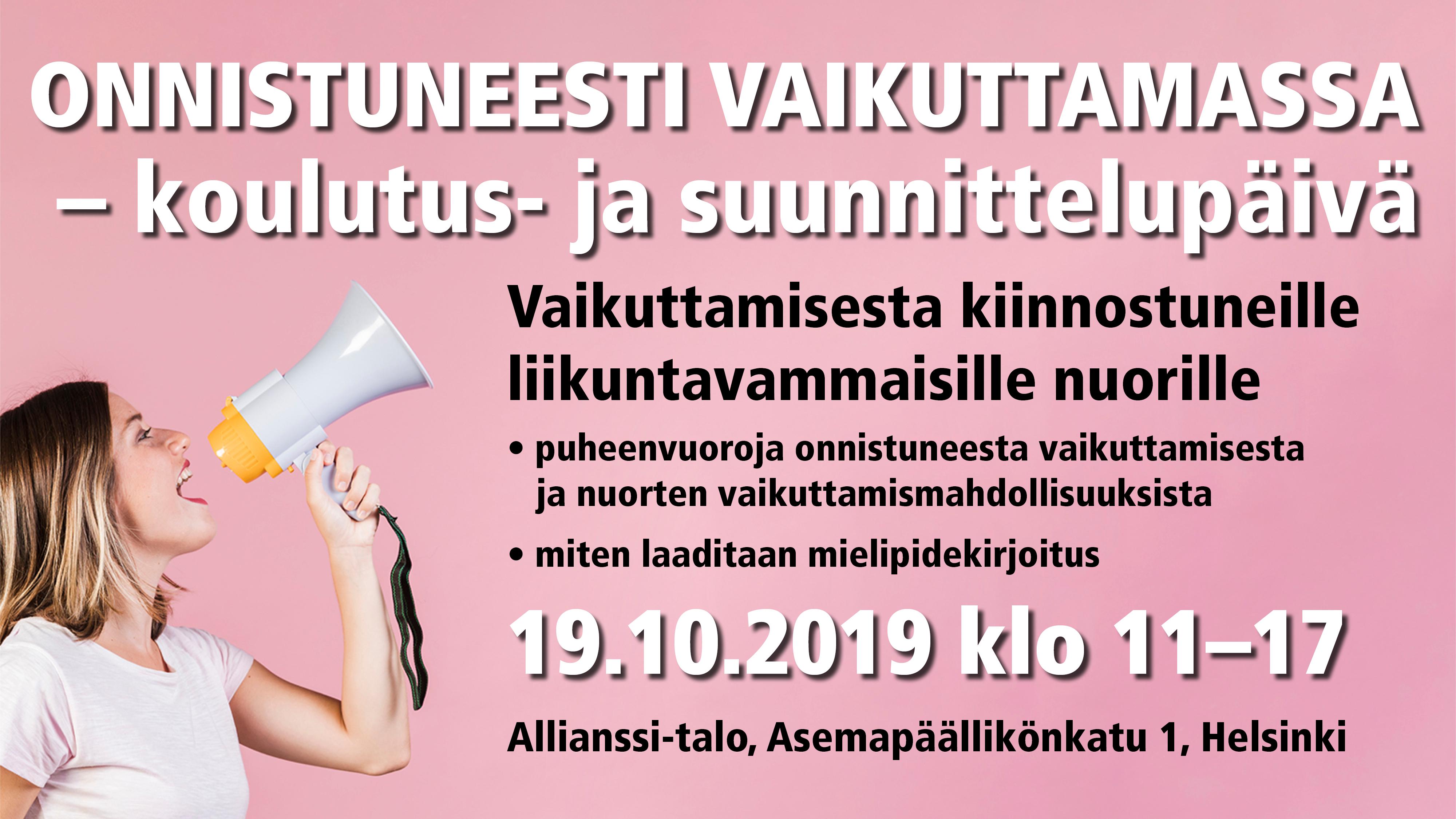Koulutus- ja suunnittelupäivä 19.10.2019