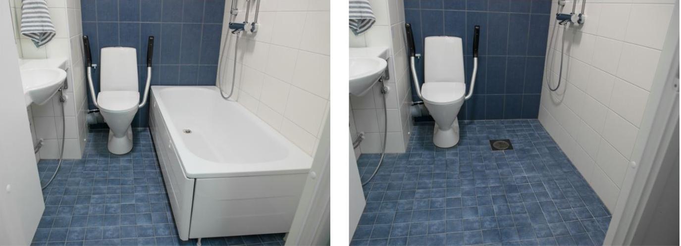 Esimerkki kerrostaloasunnon kylpyhuoneen korjaustyöstä.