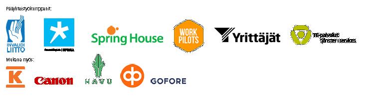 sopivaa työtä kaikille -yhteystyökumppanien logot