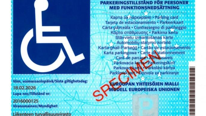 Vammaisen Pysäköintilupa Oikeudet