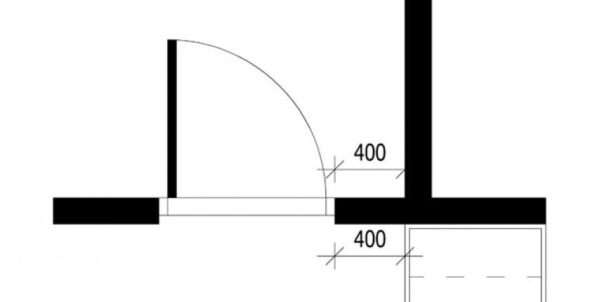 Oven aukeavalle puolella on 400 mm leveä vapaa kalustamaton tila.